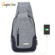 Guapabien USB Charge Antitheft Backpack Port Shoulder Crossbody Chest Bag