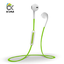 KYM Wireless Earpods Bluetooth Sports Headset Build-in HD Mic Support Remote Control Pictures Handsfree Earphones for Smartphon