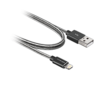 Innergie MagiCable USB To Lightning Braided 2 M Black Charge And Sync Apple Iphone Ipad - Black