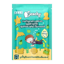 PEACHY Multigrain Cookies Apple with Quinoa & Flaxseed Pouch - 50gr