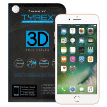 TYREX 3D Full Cover Tempered Glass for iPhone 7 Plus - White