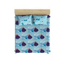 PILLOW PEOPLE Bed Sheet Set - Frozen Blue Ice / 160x200cm