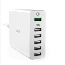 [free ongkir]Anker PowerPort+ 6 Quick Charge 3.0 - White [A2063L21]