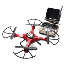 BESSKY JJRC H8D 6-Axis Gyro 5.8G FPV RC Quadcopter HD Camera With Monitor + 2PC Motor_ Red