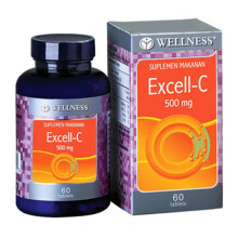 WELLNESS Excell-C 500mg 60 Tablets