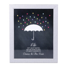 BLOOM & BLOSSOM Dancing in The Rain Poster with Frame 25x30cm