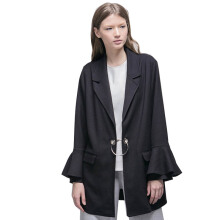 HATTACO  BY RANI HATTA O-Ring Blazer bell Sleeve - Black