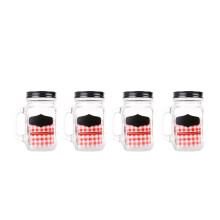 FORMIA Juice Jar Concept  450Ml Set of 4 - Black