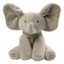 BESSKY Gund Baby Animated Flappy The Elephant Plush Toy Grey