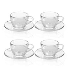 MARINEX Coffee Cup & Saucer Set of 4 - 90ml