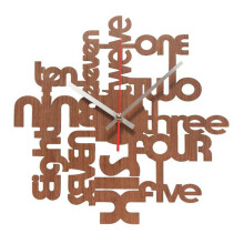 NAIL YOUR ART One Two Three II (Brown) Wall Clock/32x32Cm