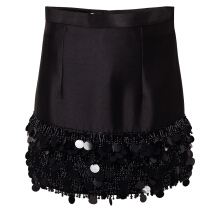 YOSAFAT DWI KURNIAWAN Mini Skirt With Fringe Beaded Hem