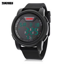 SKMEI 1218 LED Digital Watch 50m Water Resistance Chronograph Calendar Alarm Sports Wristwatch