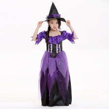 Purple Halloween  Witch Kids Costumes