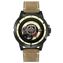 Lee Watch Project Amos AUTOMATIC Kulit Cokelat M55DBL5-91