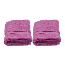 TERRY PALMER Highend Travel Towel (50 x 100 cm) 500g Set of 2 - Pink LP8687I0-50NN-NGN