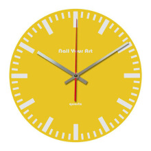 NAIL YOUR ART Simply Yellow Wall Clock/30x30Cm