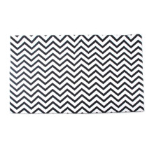 GLERRY HOME DÉCOR Black Chevron Rug - 140x200Cm