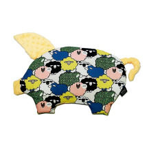 LA MILLOU Sleepy Pig Pillow - Sugar Sheep Mango Yellow SP065S
