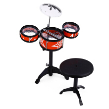 Wanyi Kids Jazz Drums Kit Musical Instrument Toy-Red