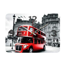 NAIL YOUR ART Red Bus Wall Clock/30x30Cm