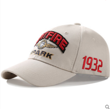 BAI B-222 Adjustable Baseball Cap MBL Hiphop cap with SPITFIRE-SPARK design Cream color