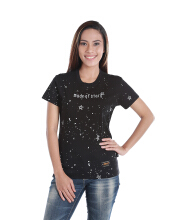 SPECS MADE OF STARS T-SHIRT W - BLACK