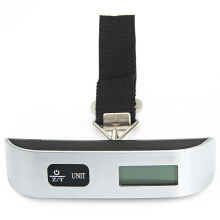 Hostweigh LCD Mini Luggage Electronic Scale Thermometer 50kg Capacity Digital Weighing Device