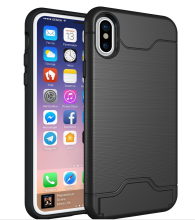 iPhone 8 TPU+PC Card Slot Holder Shockproof Case