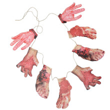 HALLOWEEN BLOODY GARLAND LIMB PARTY DECORATION HORRID SCARE SCENE SETTERS NEW