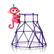 BESSKY  Jungle Gym Playset Interactive Baby Monkey Climbing Stand_ Blue