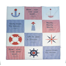 CRIBCOT Nautical Quilt 100X120