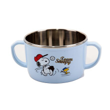 LOCK & LOCK Snoopy Baseball Stainless Noodle Bowl With Handle LSP480