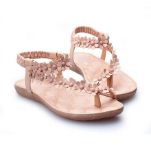 Women Summer Floral Elastic Band Sandals