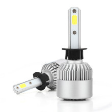 PAO MOTORING LED H1 Headlight Kit Low beam /High beam S2 Series LED Headlight Pure White 6500K 40w*2 CSP/COB Chip 8000lm