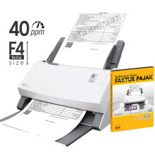 PLUSTEK Scanner SmartOffice PS406 + Software Scan Faktur Pajak