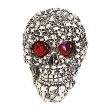 Samhain Gothic Red Glow in the Dark Skulls Head Skeleton Bones for Halloween Party Decorations Trick
