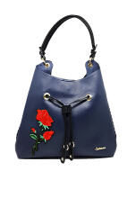 Catriona By Cocolyn Rosy shoulder bag - NAVY