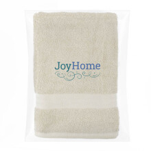 JOYHOME Bath Towel Two Stripe Border (70cm x 140cm) 450 Gsm - Green