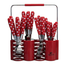 VICENZA Sendok Set 24 Pcs V245C - Red