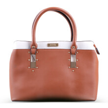 HUER Hedda 3 Spaces Tote Bag - Camel [One Size]