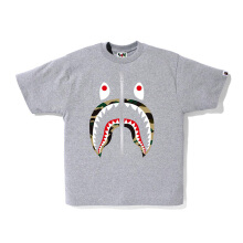 A BATHING APE Shark Tee M - Grey