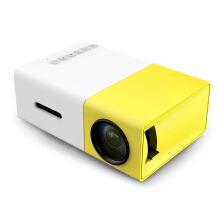 YG - 300 LCD Projector 400 - 600LM 320 x 240 Home Theater Yellow