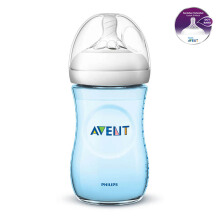 AVENT Bottle Natural 2.0 Single Pack 260ml - Blue SCF695/13 (PROMO)