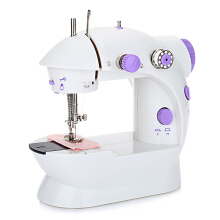 202 Mini Automatic Thread Sewing Machine Double Speed Control Button Purple