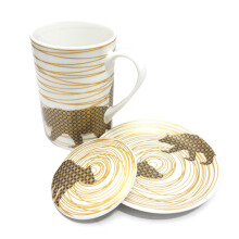 ST. JAMES Lustre Bear Mug Set 3Pcs - Gold