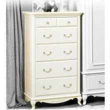 THE OLIVE HOUSE - Lemari Queen Anne 5 Drawers *White Ivory* (Free Ongkir Jawa & Bali)