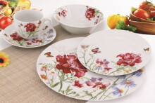 NAKAMI Dinner Set Garden Series Red Peony MH 2878 - 20PCS