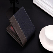 BESSKY Mens Leather Bifold Money Card Holder Wallet Coin Purse Clutch Pockets_