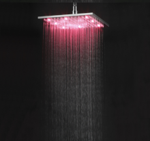 LANGFAN LED Brass Bath Shower Head T-5104  10Inch